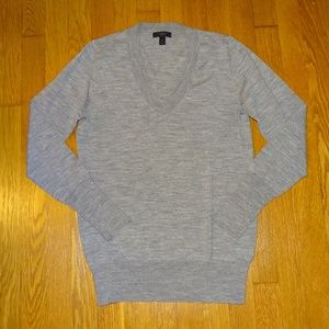 J Crew Merino Wool V Neck Sweater